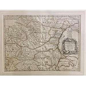 Mapa Mar Negro - 1684 <br />ROSSI, GIOVANNI GIACOMO DE, (1627-1691) / GIACOMO CANTELLI DA VIGNOLA (1643-1695) <br />Mapa do Danúbio de Belgrado para o mar Negro, com cartela decorativa. Relevo mostrado pictoricamente. Mostra divisões administrativas, cidades, cidades, marcos, igrejas, florestas, rios e montanhas.<br />Medidas: 41 x 55 cm.<br /><br />Corso del Danubio da Belgrado fino al Mar Nero con la Provincie, che intorno al medesimo si trovano: descritto da Giacomo Cantelli da Vignola su l'esemplare delle carte migliori e delle piu recenti notizie; dato in Luce da Gio. Giacomo de Rossi dalle sue stampe in Roma alla Pace con Priv. del S. Pont. l'Anno 1684. Vin. Mariotti sculp.