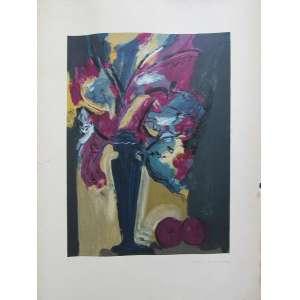 Carlos Bracher <br />Gravura<br />Natureza morta - representado vaso com flores<br />Assinada a lápis no CID<br />Numerada 73/160 <br />Medidas: 100 x 70 cm. <br />Sem Moldura