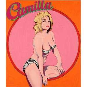 Robert Baine Camilla - 1963 <br />MEL RAMOS. <br />ALL RIGHTS REVERVED BY THE ARTIST. <br />Serigrafia sobre chapa de metal. <br />Med. 115 x 100 cm.