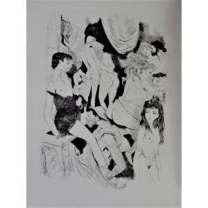 01/ Erótico : <br />Pétrone Le Satyricon - Traduit du Latin par M. Baillard, Pointes Sèches originales de G . Barret . <br />Édition du Baniyan – Paris 1960 <br />Tirage de cette edition no. 336 sur Rivers/ 490, exemplares<br />Ricamente ilustado com gravuras de G Barretsoltas no texto , <br />in 4o.com 223 páginas , encadernação em brochura na jaqueta original . <br />raro. Medidas: 30 x 24 x 5 cm.<br /> <br />