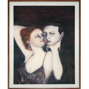 Berna - Pintor Argentino<br />Mímica Brava, 1984<br />Medidas: 67,5 x 47,5 cm. / 77 x 56,5 cm.