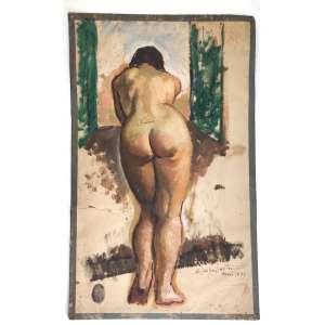 ESCOLA NACIONAL DE BELAS ARTES - MEDALHA DE OURO / PREMIO VIAGEM<br /><br />QUIRINO CAMPOFIORITO<br />Medidas: 43,5 x 26,5 cm. / 62 x 44 cm.<br />GOUACHE.<br />MODELO VIVO<br />PARIS, 1933<br /><br />Estudou na Escola Nacional de Belas Artes, no Rio de Janeiro, com Batista da Costa, Augusto Bracet e Rodolfo Chambelland.<br />Em 1929 ganhau prêmio de viagem à Europa e estudou no ateliê de Pongheon, na Académie Julian e na Académie de la Grand Chaumière de Paris.<br />Entre 1932 e 1934, freqüenta o curso de pintura da Escola de Belas Artes e o curso de desenho do Círculo Artístico e da Academia Inglesa de Roma.<br />Entre 1935 e 1937, organiza e dirige curso de pintura na Escola de Belas Artes de Araraquara, SP. Publicou e dirigiu o jornal Belas Artes - primeiro jornal brasileiro excluso de arte.<br />Em 1938, lecionou desenho artístico e arte decorativa na Escola Nacional de Belas Artes<br />Em 1940, integrou a comissão organizadora da divisão moderna do Salão Nacional de Belas Artes. Entre 1961 e 1963 integrou a Comissão Nacional de Belas Artes.<br />Em 1981, recebeu o título de Professor Emérito da Universidade Federal do Rio de Janeiro.<br /><br />É autor de inúmeros livros, o que rendeu-lhe com História da Pintura Brasileira no Século XIX, de 1983 o prêmio Jabuti da Câmara Brasileira do Livro.<br />