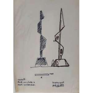 OSCAR NIEMEYER (1907-2012)<br /><br />CENTENÁRIO DE LUIS CARLOS PRESTES (1898 – 1990)<br /><br />Carta de encomenda, <br />Desenho da concepção em papel vegetal, <br />Desenho da escultura no envelope, <br />Planta ORIGINAL, <br />Memorial descritivo da festa<br /><br />Procedência e certificação: Kadu Niemeyer, neto e herdeiro de Oscar Niemeyer.<br />