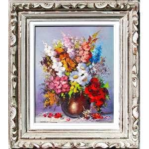 DAVI (Dagoberto Vito, Rio de Janeiro, 1950/2018)<br />Medidas: 50 x 40 cm. / 75 x 65 cm.<br />O.S.T.<br />Flores do campo<br /><br />Dagoberto Vito aos 13 anos de idade começou o estudo de pintura,<br />transferindo-se depois para São Paulo/SP, onde frequentou ateliês dos grandes mestres.<br />Em 1963 tomou conhecimento da pintura floral com o professor Roncoleto Lubra.<br />Em 1969 ingressou na Faculdade Paulista de Belas Artes<br />e mais tarde a Associação Paulista de Belas Artes e Academia Paulista de Belas Artes.<br />Em 1987 foi escolhido pela Missão Francesa, através da Riotur,<br />para representar o Brasil no setor de Artes Plásticas em Paris,<br />onde foi premiado com uma Bolsa de Estudos.<br />Lá procurou estudar as mais variadas tendências artísticas,<br />a fim de aprimorar seus conhecimentos da escola impressionista,<br />não perdendo a oportunidade de visitar museus e galerias, ampliando assim,<br />o seu gosto pelo impressionismo, estilo ao qual vem se dedicando desde a juventude.