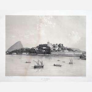 Victor Frond - La Gloria – Rio de Janeiro 17. Litografia. Impressa por Lemercier – Paris. 43 x 52 cm.