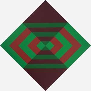 Luiz Sacilotto - C8692. Têmpera vinílica sobre tela. Titulado no verso. 144 x 144 cm.