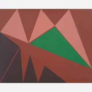 Judith Lauand - Acrílica sobre tela. Assinado e datado 1978 inferior direito. Assinado e datado 1978 no verso. 65 x 80 cm.