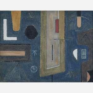 Geraldo de Barros - Grito na solidão, circa 1940. Aquarela e nanquim sobre papel. 25 x 34 cm.