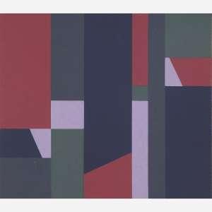 Hélio Oiticica - Composição, 1954. Guache sobre cartão. 19,3 x 23,1 cm.