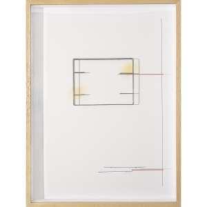WALTERCIO CALDAS - Nanquim, aço inoxidável e serigrafia sobre cartão. Assinado e datado 2011/10 no verso. 86 x 64 x 8,5 cm. R$ 30.000 / 40.000