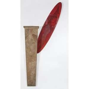 LUIZ PAULO BARAVELLI - Cimento. Massa e tinta acrílica sobre madeira e placa. Assinado, datado 1987 e titulado no verso. 235 x 106 x 15 cm. R$ 20.000 / 30.000