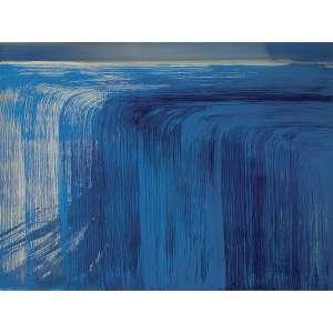 """NIURA BELLAVINHA - O Netuno. Da série """"Fluídos e Fixos 2"""". Acrílica sobre tela. Assinado, datado 2008 / 2009, titulado e situado Rio de Janeiro no verso. 170 x 230 cm. R$ 20.000 / 25.000"""