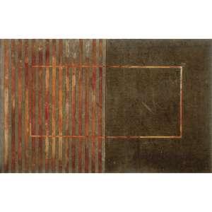 JOSÉ BECHARA - Díptico com Sólido Vazio. Óxido de ferro sobre lona. Assinado, datado 2007 e titulado no verso. 100 x 160 cm. R$ 30.000 / 35.000