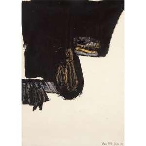 ANNA BELLA GEIGER - Guache sobre papel. Assinado e datado 65 inferior direito. 50 x 35 cm. R$ 7.000 / 9.000