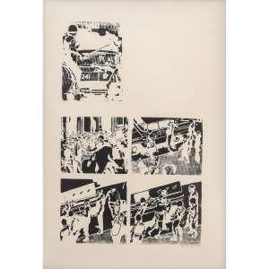 ANTONIO MANUEL - Serigrafia. Assinada, datada 72 e numerada 46/50 inferior direito. 68 x 49 cm. R$ 2.000 / 4.000