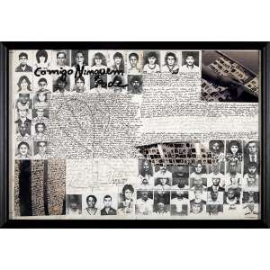 REGINA VATER - Comigo Ninguém Pode. Desenho, fotografia e colagem. Assinado e datado 1983/95 centro inferior. 29 x 43 cm. R$ 20.000 / 30.000