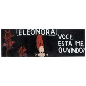 VÂNIA MIGNONE - Eleonora você está me ouvindo? Acrílica e colagem sobre placa. Tríptico. Assinados e datados 2012 no verso. 90 x 270 cm. R$ 80.000 / 120.000