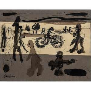 RUBENS GERCHMAN - Guache e pastel sobre papel. Assinado inferior esquerdo. 23 x 31 cm. R$ 3.000 / 5.000