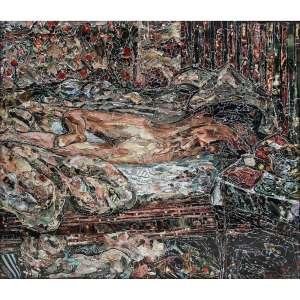 """VIK MUNIZ - Siesta, After Bonnard. Da série """"Pictures of Magazine 2"""", 2011. C-Print. Edição 5/6. 180 x 216 cm. R$ 130.000 / 160.000 - Reproduzido no catálogo Raisonné Vik Muniz: Tudo até Agora, 1987-2015, de Pedro Corrêa do Lago, Editora Capivara, volume 2, p. 766."""