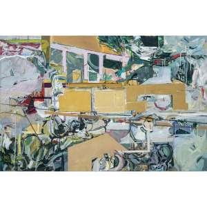 LUCIA LAGUNA - Jardim n. 1. Acrílica e óleo sobre tela. Assinado, datado 2012 e titulado no verso. 110 x 170 cm. R$ 130.000 / 160.000