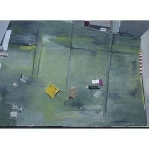 MARINA RHEINGANTZ - Pátio. Óleo sobre tela. Assinado, datado 2010 e titulado no verso. 210 x 290 cm. R$ 100.000 / 150.000