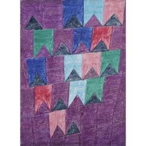 ALFREDO VOLPI - Bandeirinhas, década de 70. Têmpera sobre tela. Assinado no verso. 33 x 24 cm. R$ 230.000 / 270.000