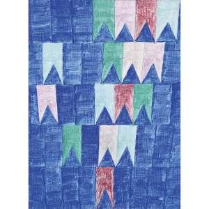 ALFREDO VOLPI - Bandeirinhas, década de 70. Têmpera sobre tela. Assinado no verso. 33 x 24 cm. R$ 240.000 / 280.000