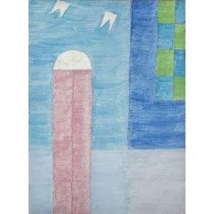 ALFREDO VOLPI - Fachada e Bandeirinhas, década de 70. Têmpera sobre tela. Assinado no verso. 34 x 25 cm. R$ 230.000 / 270.000