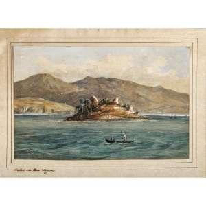 C. ARGENTI - Bahia da Boa Viagem, circa 1850. Aquarela sobre papel. Titulado inferior esquerdo. 15 x 22 cm. R$ 8.000 / 12.000
