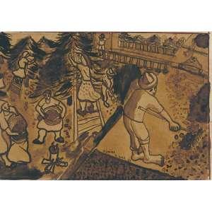 DJANIRA DA MOTTA - e silva Nanquim sobre papel. Assinado, datado 45 e situado N. York centro inferior. 15 x 22 cm. R$ 14.000 / 18.000