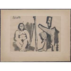 PABLO PICASSO - Le Peintre Et Son Modèle. Água-forte e água-tinta. Assinada inferior direito. Datada 18.11.63 superior esquerdo. Numerada 20/50 inferior esquerdo. 23,5 x 33,5 cm. R$ 30.000,00 / 40.000 - Catálogada no Pablo Picasso, volume I, Catalogue of the Printed Graphic Work, Georges Bloch, 1971, p. 237, sob o número 1133.