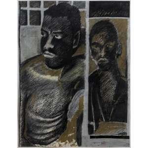RUBENS GERCHMAN - Acrílica e pastel sobre papel. Assinado inferior direito. 50 x 39 cm. R$ 7.000 / 9.000