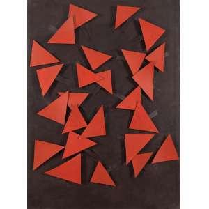 """ARTHUR LUIZ PIZA<br>""""Sem titulo""""<br> Acrílico e colagem e incisões sobre cartão.<br> 100 x 70 cm<br> Ass.no verso"""