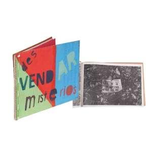 """PAULO BRUSKY<br>""""Um livro para desvendar mistérios""""<br> Pintura e impressão, em formato de livro sobre cartonado reciclado<br><br> 19,5 x 28,5 cm, numerado 23/100,<br> Assinado na ultima folha<br>Série da Cooperativa Dulcinéia."""