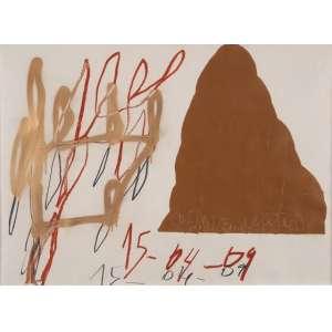 """MARCELO SOLÁ<br>Cosmie Montaim Center"""" <br>Técnica mista sobre papel<br>55 x 90 cm<br>2009<br>"""