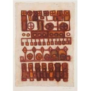 MIRA SCHENDEL<br>Sem titulo<br>Ecoline sobre papel artesanal<br>31 x 21 cm<br>Ass. inf.dir<br>1963<br>