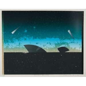 "ANNA BELLA GEIGER<br>""Nº 3 Sumer: Blau Platz<br>Serigrafia - 73/100 <br>70 x 90 cm cm<br>Ass,inf.dir<br>1986"