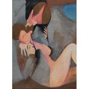 RUBENS GERCHMANN<br>Casal<br>Pastel<br>76 X 56 cm<br>Ass.inf.dir<br>1981
