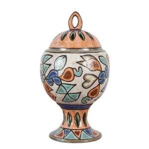 FRANCISCO BRENNAND<br>Potiche<br>Cerâmica pintada. Com carimbo de fábrica no fundo<br>37 cm alt<br><br>