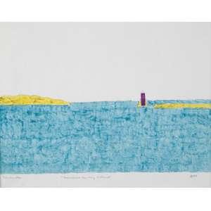 ELEONORE KOCH<br>Sushine on my Island<br>Tempera sobre papel. <br>20 x 24,5 cm <br>Ass.inf.esq. dat. 1974 inf.dir.