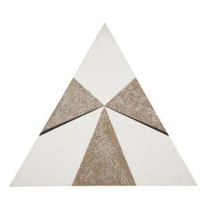 HERCULES BARSOTTI<br>Triângulo<br>Acrílica, pedra e areia sobre tela. <br>80 x 92 cm <br>Ass.dat. 2004 no verso. <br>Braz Art V pág.87