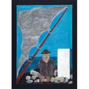 CILDO MEIRELES - Sem titulo - Guache e pastel sobre papel. - 70 x 50 cm - Ass.dat. 1981 inf.esq. - Ex. Coleção Kim Esteve