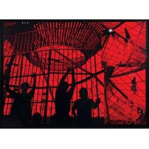 MIGUEL DO RIO BRANCO - O equilibrista e o circo - Fotografia. 3/5 - cm - Ass.tit. num. em etiqueta no verso. - 1992- 100 x 150 cm.Com etiqueta da Galeria Silvia Cintra