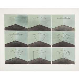 "LYDIA OKUMURA - The Appearance - Litografia - 45 x 62 cm - Ass.dat. 1975, loc. ""N.Y"" inf.dir."