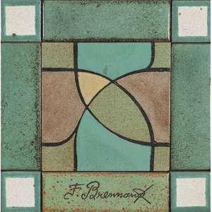 FRANCISCO BRENNAND - Sem titulo - Cerâmica pintada - 51 x 50 cm - Ass. no centro.