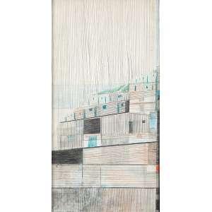 CANDIDO PORTINARI - Morro Grafite e crayon colorido sobre papel. 35 x 5 x 18 cm. Com autenticação e inscrição de Maria Portinari DN 1011 no verso.