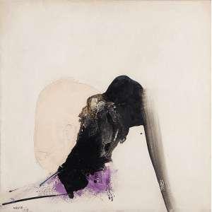 MANABU MABE - Sem titulo Óleo sobre tela. Ass.dat. 1967 inf.esq. 74,5 x 74,5 cm. Com certificado de autenticidade do Instituto Manabu Mabe.