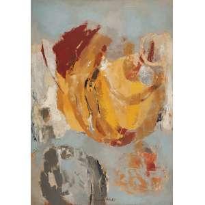 YOLANDA MOHALYI - Sem titulo Óleo sobre tela. Ass. centro inf. 122 x 86 cm. C. 1966 - Com etiqueta da Retrospectiva Yolanda Mohalyi realizada no - M.A.M. – SP – 1976, descrita no referido catálogo.