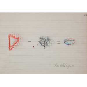 ANNA BELLA GEIGER - Sem titulo Grafite e guache sobre papel. Ass.dat. 1978 inf.dir. 22,5 x 31 cm.
