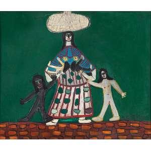 ANTÔNIO POTEIRO - Família Óleo sobre aglomerado. Ass.inf.dir. 62 x 73 cm.